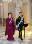 03-01-2020 Denmark Princess Mary and Prince Frederik during the Defense and Emergency Management Agency, I., II. and III. rank class and representatives of major national organizations and protections New Years reception at Christiansborg castle in Copenhagen.