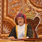 11-01-2020 New sworn-in Sultan Haitham Bin Tariq Bin Taimour of Oman delivers his first speech during a ceremony held in Muscat, Oman few hours after Sultan Qaboos Bin Said passed away. 