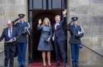 14-01-2020 Amsterdam Arrival of Queen Maxima and King Willem-Alexander for the New Years reception at the Royal palace in Amsterdam. 