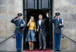 15-01-2020 Amsterdam Queen Maxima and King Willem-Alexander arrive for the New Years reception for the corps diplomatique at the Royal palace in Amsterdam.