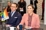 15-01-2020 Sweden Crown Princess Victoria and Prince Daniel visit RFSL, The Swedish Federation for Lesbian, Gay, Bisexual, Transgender, Queer and Intersex Rights, Stockholm.