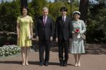03-07-2019 Naatali President of Finland Sauli Niinistö (2-L), his spouse Jenni Haukio (L),  Crown Prince Akishino (2-R) and Crown Princess Akishino (R) poses for the press during welcoming ceremonies at the Kultaranta Castle, Summer Residence of the President of Finland in Naantali, Finland.