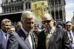 06-07-2019 King Filip Philippe and Prince Albert at start of the first stage of the 106th edition of the Tour de France cycling race in Brussels, Belgium.
