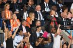 07-07-2019 Princess Ariane of Netherlands, Crown Princess Amalia of Netherlands and King Willem-Alexander of the Netherlands and Eveline van den Bent during the FIFA Women s World Cup France 2019 final match between United States of America and The Netherlands at Stade de Lyon on July 07, 2019 in Lyon, France