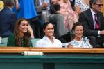 13-07-2019 Duchess of Cambridge Kate, Catherine, Duchess of Sussex, Meghan Markle and Pippa Middleton Matthews in the royal box, during the day twelve of the Wimbledon Championships at the All England Lawn Tennis and Croquet Club, Wimbledon, in London, UK.