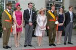 23-06-2012 Luxembourg Grand Duke Henri and Grand Duchess Maria-Teresa and Grand Duke Guillaume and Prince Felix and Princess Alexandra and Prince Louis and Princess Tessy during the National day celebrations in Luxembourg.  (c) PPE/v.d. Werf  PPE Agency - Edwin Veloo  Anemonenweg 52  2241 XM Wassenaar  M. 06-43497725 F 084 7384869  www.ppe-agency.com   If you have any questions please call or e-mail us with your inquiries.