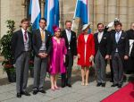 23-06-2014 Deum Grand Duke Henri and Grand Duchess Maria-Teresa and Grand Duke Guillaume and Princess Stephanie and Prince Sebastien and Prince Felix and Prince Louis attended the Te Deum during the National day celebrations   (c) PPE/v.d. Werf