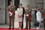 25-06-2014 Madrid King Felipe and Queen Letizia during the parade of the armed forces and guardia civil at the Royal palace in Madrid, Spain.  No Spain  © PPE/Thorton