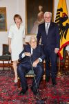 12-06-2018 Henry Kissinger with Frank-Walter Steinmeier and Elke Büdenbender at the celebration of his 95th birthday at Schloss Bellevue in Berlin. 