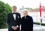 13-06-2018 King Willem-Alexander during the statebanquet at the presidential palace with Mrs. Dalia Grybauskaite on the 3rd day of the 5 day statevisit to the Baltic state, Lithuania.