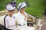 19-06-2018 UK Meghan Markle and Duchess of Sussex Sophie, Countess of Wessex arrive for Day one of Royal Ascot at Ascot racecourse in Berkshire.