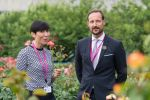 22-06-2018 Norway's Crown Prince Haakon (R) and Foreign Minister Ine Eriksen Soreide attend a press event about the launch of Norway's campaign for an elected seat in the UN Security Council for the 2021-2022 term at the United Nations headquarters in New York.
