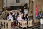 23-06-2018 Deum Grand Duke Henri and Grand Duchess Maria-Teresa, Grand Duke Guillaume and Grand Duchess Stephanie, Prince Félix and Princess Claire, Prince Louis, Princess Alexandra and Prince Sebastian during the Te Deum at the Notre-Dame cathedral on the national day in Luxembourg.