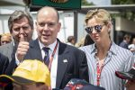 24-06-2018 Richard Prince Albert II and Princess Charlene of Monaco arriving at the Formula One Grand Prix of France at Circuit Paul Ricard in Le Castellet, France. 