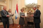 27-03-2012 Wassenaar Princess Margriet received the book 'The time of great peace, Johan Maurits van Nassau in Dutch Brazil' written by Casparus Barlaeus, at the Brazil residence in Wassenaar. With Ambassador of Brazil J Denot Medeiros and mayor Jan Hoekema.  (c) PPE/N. Beijersbergen  PPE-Agency/Edwin Veloo www.ppe-agency.com  Anemonenweg 52 2241 XM Wassenaar M. 06-43497725 F 084-7384869  If you have any questions please call or e-mail us with your inquiries