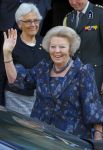 01-05-2013 Amsterdam Princess Beatrix leaving with one of her best friends Rene Roell the Dam palace in Amsterdam after the lunch.  (c) PPE/Nieboer  PPE-Agency/Edwin Veloo www.ppe-agency.com  Anemonenweg 52 2241 XM Wassenaar info@ppe-agency.com M. 06-43497725   If you have any questions please call or e-mail us with your inquiries