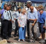 21-05-2014 Antillen Princess Beatrix with Tadzio Bervoets visiting the Sint Maarten Nature Foundation, Simpson Bay. The Princess is for a 3 day visit at Sint Maarten  © PPE/M. Cirtiu
