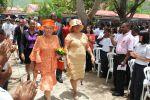 21-05-2014 Princess Beatrix with rector S. Duncan visiting the Sint Maarten Academy on Sint Maarten The Princess is for a 3 day visit at Sint Maarten  © PPE/M. Cirtiu