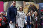 22-05-2014 Toledo Princess Letizia and Prince Felipe arrive, on the 10th wedding anniversary, the El Greco exhibition at Santa Cruz Museum in Toledo, Spain.  No Spain  © PPE/Thorton