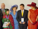 24-05-2014 Middelburg Queen Maxima and Malala Yousafzai and Princess Margriet and Peter Maurer at the Four Freedom Awards ceremony in Middelburg.    © PPE/Nieboer