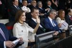 22-05-2016 Barcelona King Felipe and Queen Letizia attend the King's Cup final match between Sevilla and FC Barcelona at Vicente Calderon stadium in Madrid, Spain.