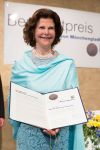 24-05-2016 Queen Silvia of Sweden receives the Benedikt Prize in Moenchengladbach.