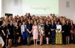 25-05-2016 The Hague Queen Maxima with Neelie Kroes during the Inspiring Perspectives event in The Hague.