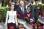 28-05-2016 Madrid Queen Letizia during the 2016 Armed Forces Day parade on Lealtad Square in Madrid.