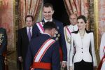28-05-2016 Spain Queen Letizia and King Felipe during the reception for the Armed Forces day at Palacio Real in Madrid, Spain.