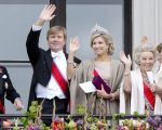 09-05-2017 Balcony King Willem-Alexander and Queen Maxima and Princess Beatrix on the balcony to celebrate the 80th birthdays of King Harald V and Queen Sonja in Oslo.