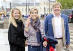10-05-2017 Norge King Willem-Alexander and Queen Maxima and Princess Mabel leaving the Royal Yacht, Norge, to celebrate the 80th birthdays of King Harald V and Queen Sonja in Oslo.    