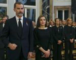 11-05-2017 Spain Queen Letizia and King Felipe and Princess Cristina and Princess Elena during the ceremony for the late Princess Alicia de Borbon-Parma and Habsburgo-Lorena, Infanta de Espana, Princess Bourbon-Two Sicilies, widow of Alfonso de Borbon y Borbon at the Royal palace in Spain. 
