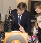 17-05-2017 Haarlem King Willem-Alexander during the opening of the Lorentz Lab in the Teylers museum in Haarlem.