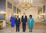19-05-2017 palace Queen Maxima and King Willem-Alexander during the visit of the President of Mozambique, Filipe Nyusand and Isaura Nyusi at palace Noordeinde in The Hague.