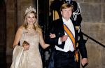 23-05-2017 Diner Queen Maxima and King Willem-Alexander leaving the gala dinner for the members of the Corps Diplomatique at the Royal palace in Amsterdam.