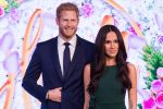 09-05-2018 London A new wax figure of Ms. Meghan Markle with prince Harry is unveiled ahead of her wedding to Prince Harry on May 19 at Madame Tussauds in London, Britain.