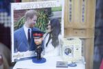 18-05-2018 UK Souvenir memorabilia in a shop window in Windsor Town Centre, UK ahead of Prince Harry and Meghan Markle's wedding.