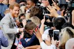 18-05-2018 England Princes Harry greet wellwishers outside Windsor Castle in Windsor, Britain.
