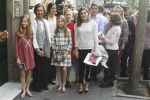19-05-2018 Spain Queen Letizia and Princess Leonor and Princess Sofia and Queen Sofia and Irene Urdangarin and Victoria Federica de Marichalar leaving the 'Billy Elliot' musical in Madrid.
