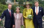 23-05-2018 Statevisit Queen Maxima and King Willem-Alexander and Grand duke Henri and Grand duchess Maria Teresa on the 1st day of the 3 day statevisit to Luxembourg.