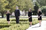 27-05-2020 Madrid King Felipe and Queen Letizia and Crown Princess Leonor and Princess Sofia attends a minute of silence in memory for the COVID19 pandemic victims in 2020 in Madrid, Spain.