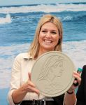 21-11-2012 Piracicaba Princess Maxima holding an euro coin with her image on the 3rd day of the 5 day visit to Brasil ( Brazilie). The Princess visited the manufacturing facility in the city of Piracicaba Brazil Paques. Paques is a Dutch SME business and global in the field of development and construction of profitable purification for water and gas.  (c) PPE/Nieboer  PPE-Agency/Edwin Veloo www.ppe-agency.com  Anemonenweg 52 2241 XM Wassenaar M. 06-43497725   If you have any questions please call or e-mail us with your inquiries