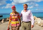 19-11-2013 Curacao Queen Maxima and King Willem-Alexander on the 7th day of the 10 day visit to the Dutch Antillen, Curacao.© PPE/Nieboer