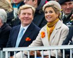 30-11-2013 Scheveningen Queen Maxima and King Willem-Alexander at the historic landing of Prins Willem Frederik ( Actor Huub Stapel) at the celebration of the 200th anniversary of the Kingdom of the Netherlands on the beach of Scheveningen.In the years 1813-1815, the foundation was laid for the Dutch Kingdom.© PPE/Nieboer