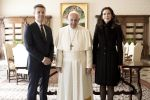 08-11-2018 Vatican Pope Francis meets with Prince Frederik and princess Mary during a private audience at the Vatican, Italy.