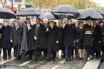 11-11-2018 Paris Angela Merkel, Emmanuel and Brigitte Macron, King Mohamed VI and other leaders attend the ceremony of centenary of the end of World War I, on November 11, 2018 near the