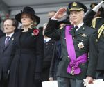 11-11-2018 Brussels Belgian King Filip Philippe and Queen Mathilde attend a ceremony commemorating the 100th anniversary of Armistice Day of WWI in Brussels, Belgium.
