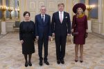 14-11-2018 Palace Queen Maxima and King Willem-Alexander welcome president Alexander van der Bellen and Doris Schmidauer of Austria at palace Noordeinde in The Hague.