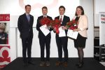 15-11-2018 Denmark Prince Joachim presenting the research scholarships 2018 of the diabetes association's to Mark Klitgaard Noehr, Kristian Loekke Funck and Susanne Elkjaer Riis in Copenhagen.