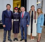 25-11-2018 Sandhurst L-R : Jordan s Crown Prince Al Hussein bin Abdullah, Princess Salma, King Abdullah II and Queen Rania Al Abdullah, and their daughter Princess Iman attend the Graduates Parade at Sandhurst Military Academy, in Sandhurst, United Kingdom.